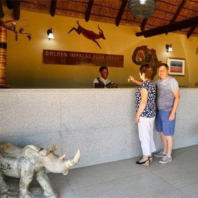 Reception - Golden Impalas Bush Resort